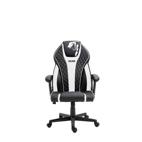 Cadeira Gamer Naja Snake Gaming Reclinável 411 - Preta e Branca