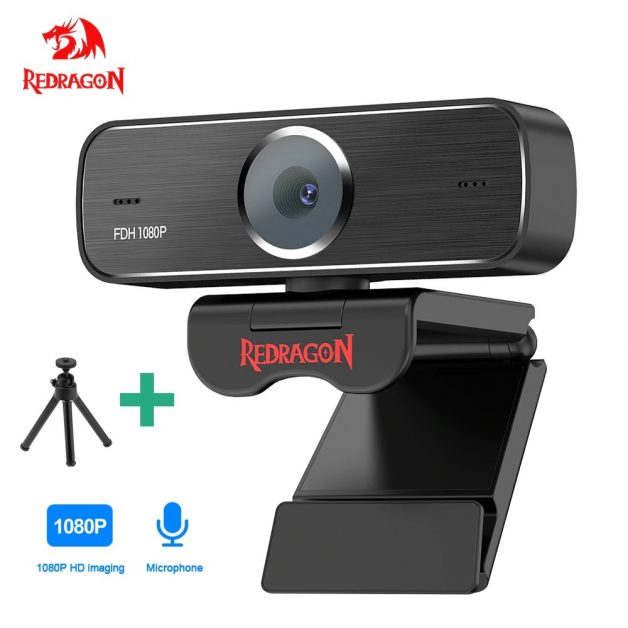 Webcam Full Hd Redragon Gw800 1080 P Microfone Plug And Play