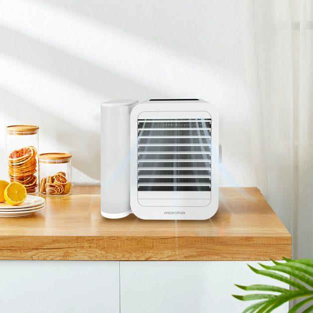 Mini condicionador de ar branco MICROHOO 6W 1000ml de capacidade de água da Xiaomi Youpin