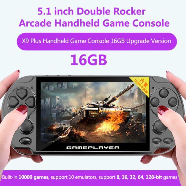 X9 Plus 5.1inch 16GB 128Bit 10000 Games Console