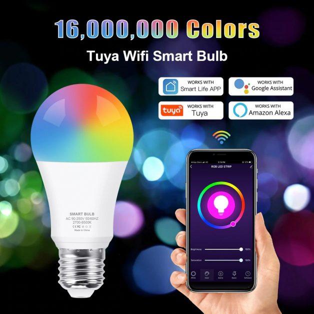 Lâmpada inteligente Wifi 12W RGB
