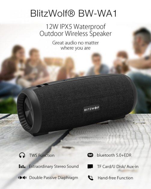 BlitzWolf BW-WA1 12W Bluetooth 5.0 Speaker
