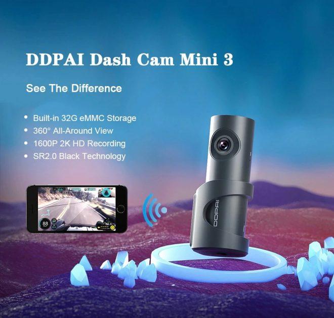 DDPAI Dash Cam Mini 3 1600P Dash Cam