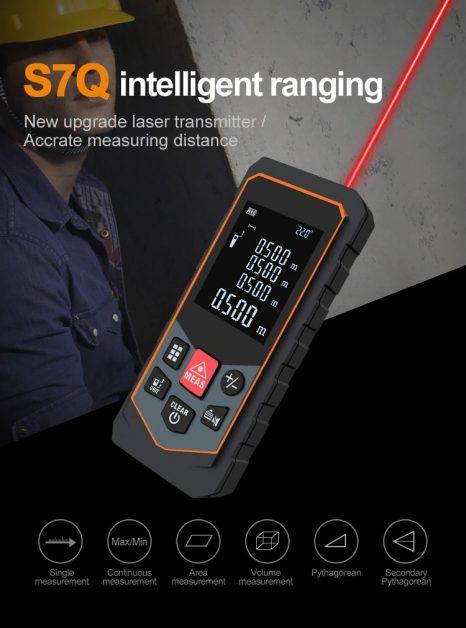 Medidor de distância a laser 40m