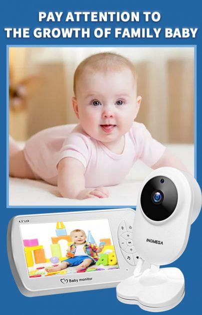 Monitor de bebê sem fio INQMEGA