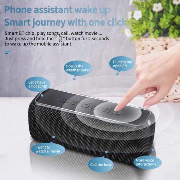 60W TWS IPX5 Bluetooth 5.0 Speaker