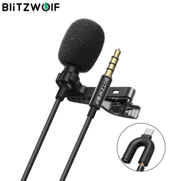 Microfone de Lapela BlitzWolf BW-CM1