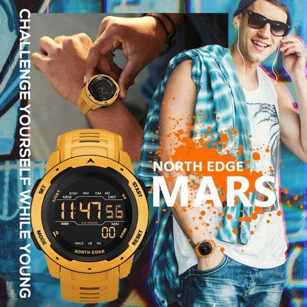 NORTH EDGE Mars Men Digital Watch