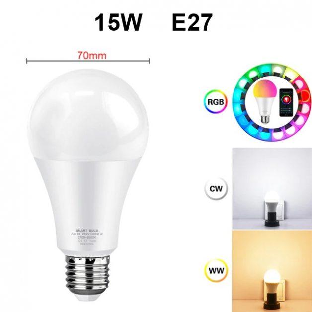 Lâmpada Inteligente Avatto Tuya 15W RGBCW E27