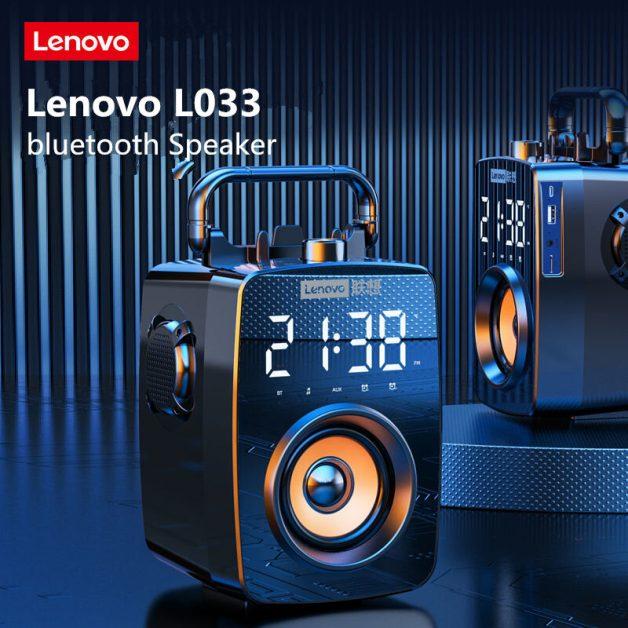 Lenovo L033 Bluetooth Alto-falante Despertador Relógio Digital